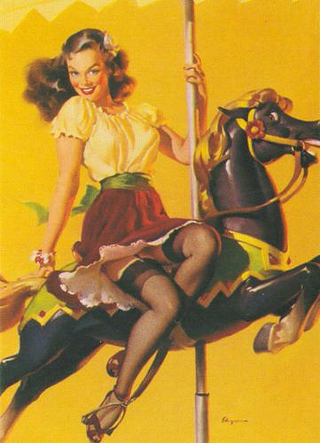 Image via The Pin-up Files | Artist: Gil Elvgreen ; 1948